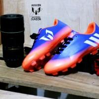 sepatu sepak bola anak adidas messi junior biru orange premium baru
