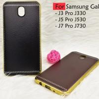 TPU Leather metal bumper case Samsung galaxy J5 Pro