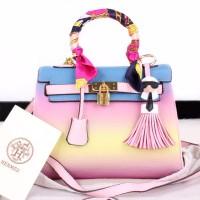 Tas wanita Hermes Kelly Rainbow Bags 8470