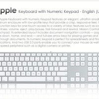 MB110 Apple Keyboard With Numeric Keypad