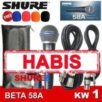 SHURE BETA 58A KW1 MIK/MIC/MIKROFON/MICROPHONE KABEL 58/58 A