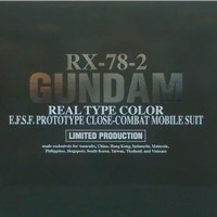 PG RX 78-2 Gundam Real Type Color Limited Production Bandai