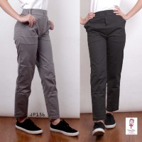 Plain Basic Pants Celana Anti Begah Wanita (JP156)