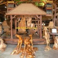Furniture Antik Jati Bekas Prau/Kapal berupa Gazebo/Lesehan (Jo-I.2)