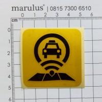 Stiker Icon Taksi Online TAXI Grab Gocar Uber dll Sticker Cutting Ikon