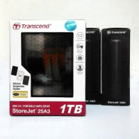 Jual Transcend Storejet 25A3 1TB Harddisk Portable USB 3.0 Antishock Murah