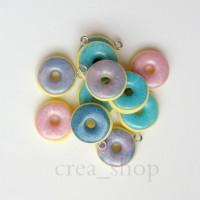 Jual Donuts Charms - Handmade Fimo Polymer Clay Charms Murah