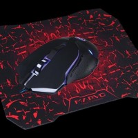 Marvo M309 Gaming Mouse The Dark Knight 6D + Mousepad G7 - Hitam