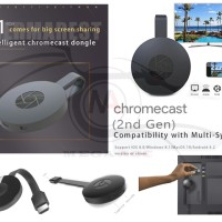 Google Chromecast 2 G1 Wireless WiFi HDMI Display Receiver Dongle