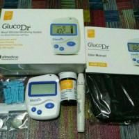 Jual alat cek gula darah dr gluco akurat + strip isi 25 pcs free alkohol Murah