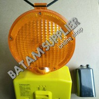 Lampu tongkang / warning barricade light /flash light ( kuning)