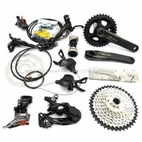 NEW GROUPSET SHIMANO DEORE M6000 BLACK DOUBLE 2 X 10 SPEED