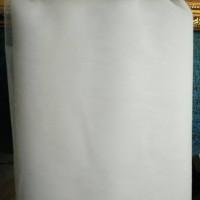 kain tile setengah kaku putih bersih