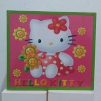 Jual DOKUBOX money saving box / celengan kotak kayu gambar Hello Kitty Murah