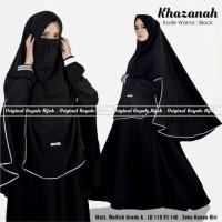 KHAZANAH SYARI BLACK  110/140Allsize3M Gamis Cadar Busui Wolfis Antem