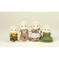 Sylvanian Families Rare - Sheep Family Old Version (Hand Grip)