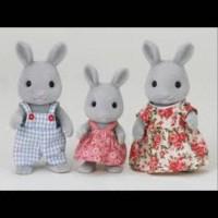 Sylvanian Families Rare - Grey Rabbit Family Set of 3