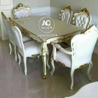 Meja makan,set kursi makan lois