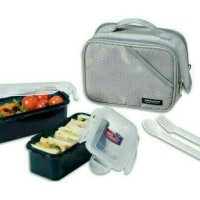 Lock N Lock HPL762DG Lunch Box 2P Set lock and lock & lock