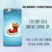 Jual custkm case christmas tree casing santa cetak case natal softcase hard Murah