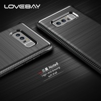 Lovebay Carbon Brushed Soft Case Samsung Galaxy S8 S8+ Plus Note 8