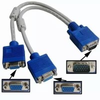 Kabel VGA Cabang 1 MALE - 2 FEMALE KABEL VGA SPLITTER
