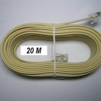 Kabel LINE Telpon 20 m + Jack RJ 11/ Telepon Telfon Cable 20m+Jek RJ11