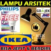 Jual LAMPU ARSITEK JEPIT / LAMPU MEJA LED / LAMPU BACA BELAJAR / LM 219 Murah