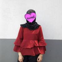 Jual blouse tingkat lngan trompet Murah