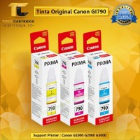 Tinta Canon GI790 GI-790 GI 790 Original Printer G1000 G2000 G3000