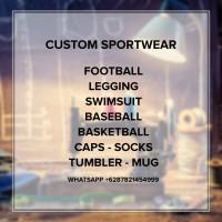Custom jersey kaos bola partai football footsal sepeda motor lari
