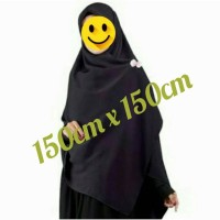 harga Jilbab Segi Empat Jumbo Warna Hitam Polos Tokopedia.com