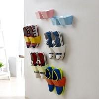 Hotlist kekinian Wall Shoes Hanging Rack - Rak Tempat Sepatu Dinding