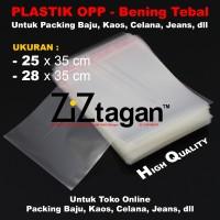 PLASTIK OPP 25 28 Packing Baju Online Kaos Celana Jean Bening Lem Seal