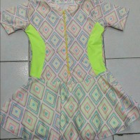 Baju Renang Anak SD Rok Bermotif/size-M/L/XL