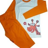 Harga piyama baju tidur anak katun cotton model jerapah | antitipu.com