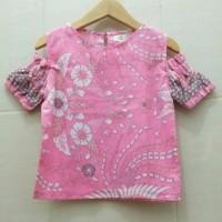 Felicya Pink Blouse/Atasan Batik Anak