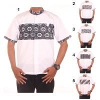 Pakaian Pria Muslim Baju Koko Pria Kombinasi Batik Rahman - Katun Dobi
