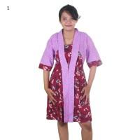 Harga baju pakaian wanita formal casual dress batik arumi modis | Pembandingharga.com