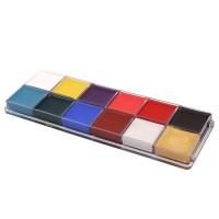 YingWei 12 colors Makeup Face Painting Kit Pigment Body Murah