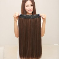 HAIR CLIP LONG HAIR KHUSUS WARNA COKLAT