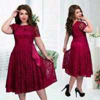 dress brukat jumbo big size wanita pita xl xxl pesta