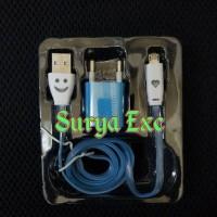harga Charger/travel Charger/cas Hp Bb, Samsung,dll With Light (lampu Di Kedua Ujung Kabel) Colokan Micro Tokopedia.com