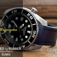 CRAFTER BLUE Rubber Strap BIRU NAVY untuk Jam SEIKO SUMO Curve End