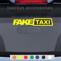 stiker fake taxi sticker kaca mobil stiker cutting