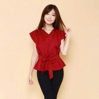 KIMONO - Atasan Batik Blouse Batik Modern Wanita Cheongsam Premium HQ
