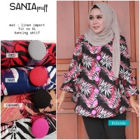 Baju Atasan Wanita Blouse Tunik Baju Muslim SANIA PUFF
