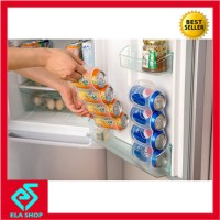 Rak minuman kaleng kulkas (tempat penyimpanan lemari es)