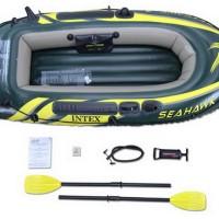 Perahu Karet Seahawk 2 Inflatable Boat Set - INTEX #68347