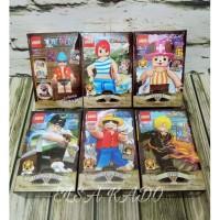 Harga mainan hobi lego one piece figure set luffy sanji franky chopper | antitipu.com